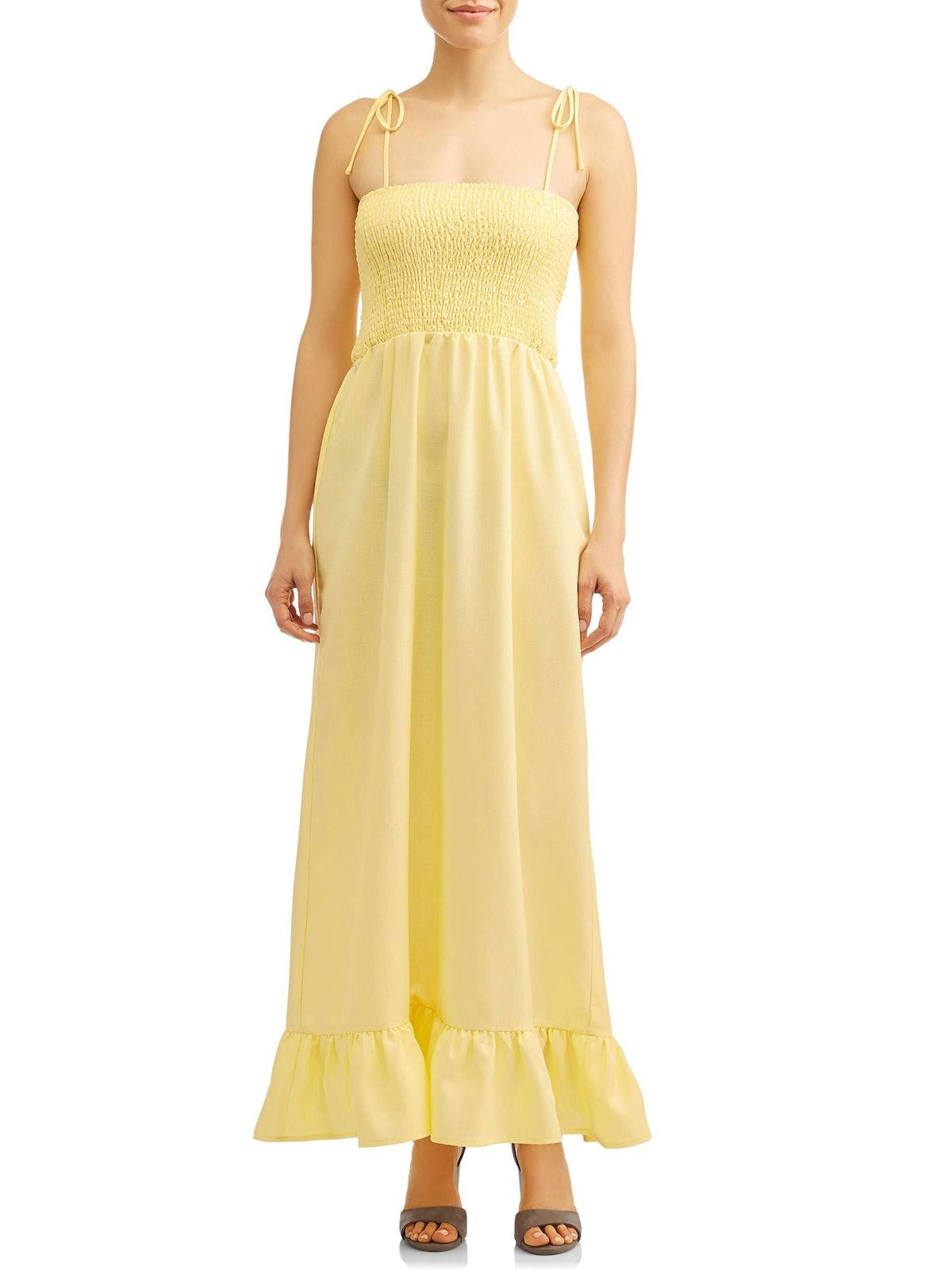 Love Sadie Women's Smocked Maxi Dress