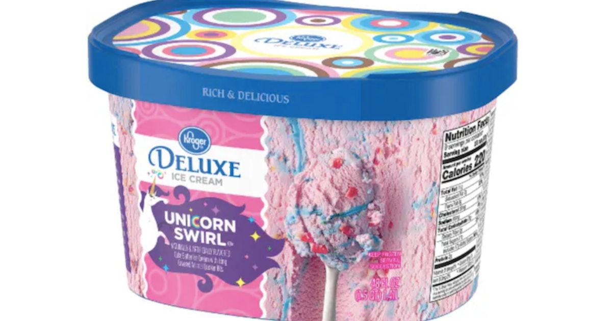 Kroger S Deluxe Unicorn Swirl Ice Cream Is The Dreamiest