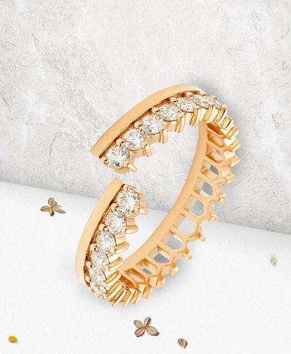 Simple Lace Full Diamond Ring