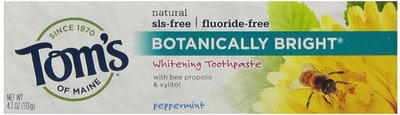 Tom's Of Maine Botanically Bright Whitening Toothpaste, Peppermint, 4.7 Ounces