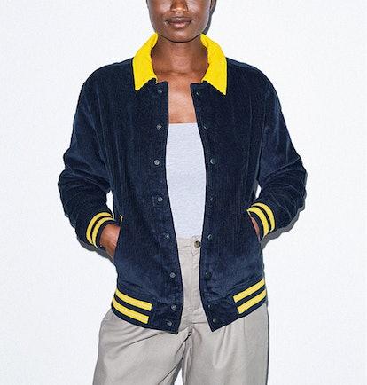 Corduroy Letterman Jacket