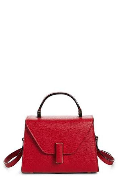 Iside Mini Top Handle Bag in Red