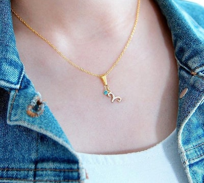 Aries Necklace with Birthstone