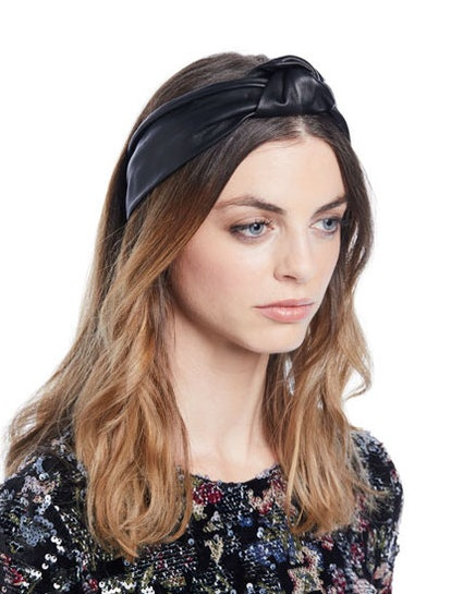 Knotted Leather Head Wrap