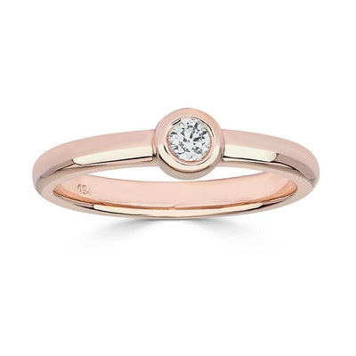 Bookend Diamond Ring