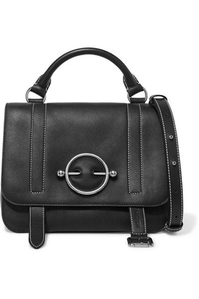 Disc Leather Shoulder Bag