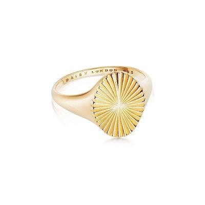 Estee LaLonde Sunburst Signet Ring