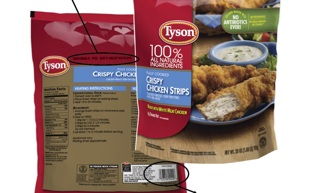 Tyson Foods Is Recalling Chicken Strips Because Of Potential Metal Contamination, The USDA Reports