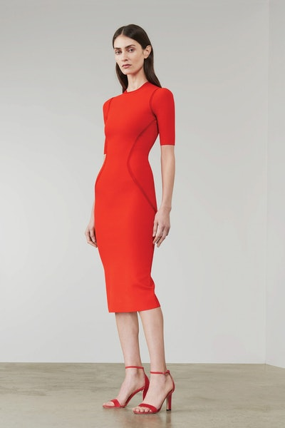 Fitted Seam Detail Dress