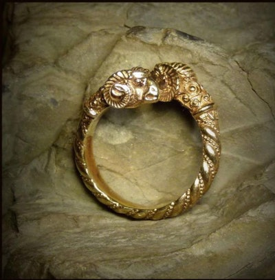 Aries Vintage Greek Ring