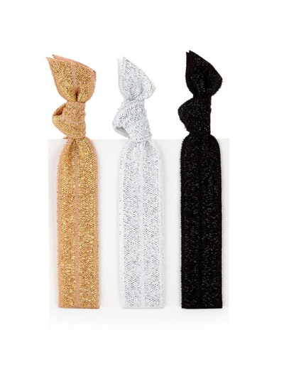 Fifth City Set of 3 Metallic Hair Ties