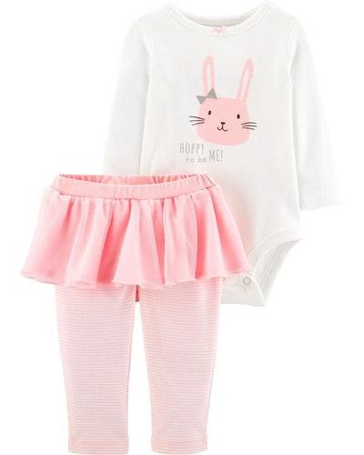 2-Piece Bunny Bodysuit & Tutu Pant Set