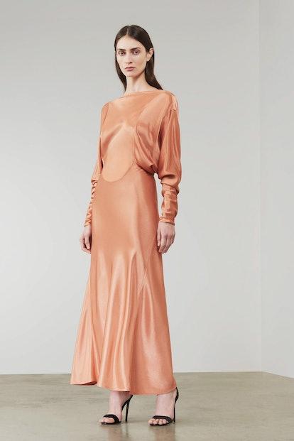 Open Back Draped Dress