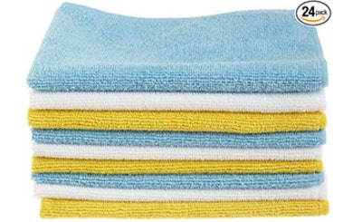 AmazonBasics Microfiber Cleaning Cloth (24 Pack)
