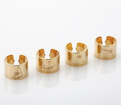 Gold Zodiac Adjustable Ring
