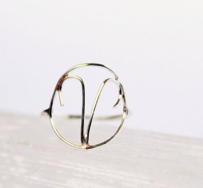 Sterling Silver Aries Ring