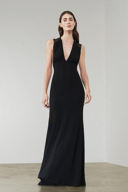 Long Sheer Back Sleeveless Dress