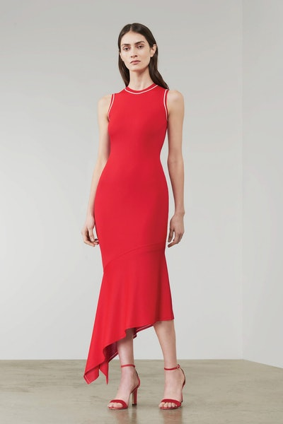 Asymmetric Sleeveless Midi Dress