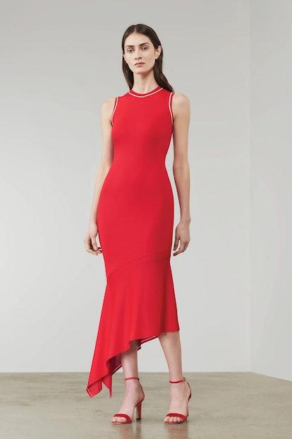 Asymmetric Sleeveless Midi Dress