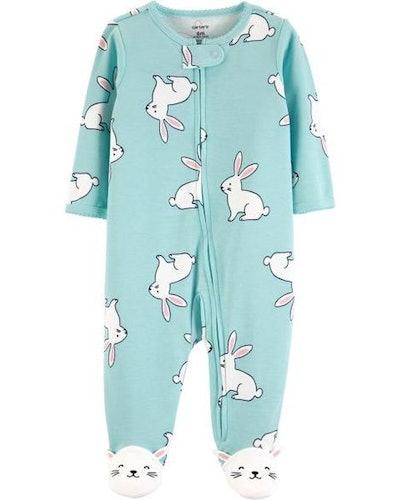 Bunny Zip-Up Cotton Sleep & Play