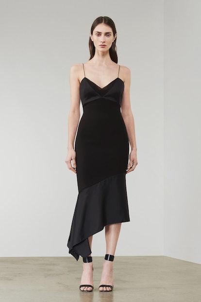 Asymmetric Peplum Cami Fitted Dress