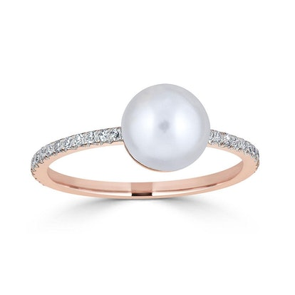 Pearls and Pebbles Diamond Ring