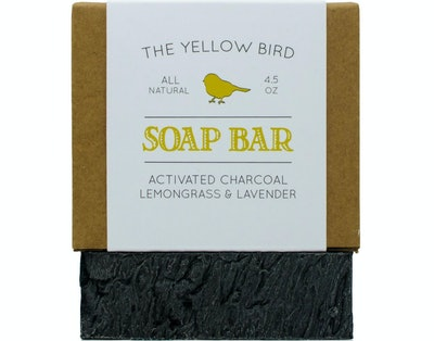 The Yellow Bird Activated Charcoal Soap Bar (1 Pack)