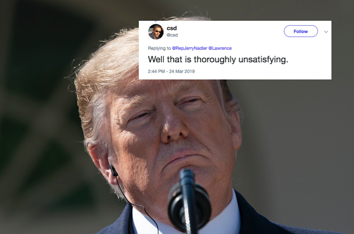 These Tweets About William Barr's Mueller Report Summary Are Unsatisfied With The Letter
