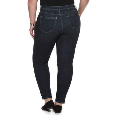 EVRI All About Comfort Midrise Skinny Less Curvy Jeans