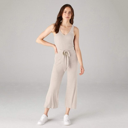 Ribbed Jumpsuit Pebble