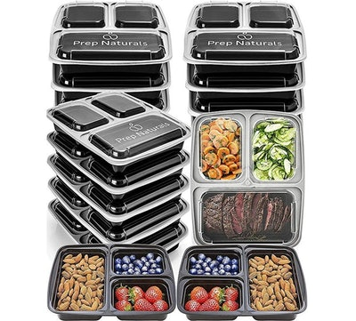 Prep Naturals Meal Prep Containers  (15 Pack)