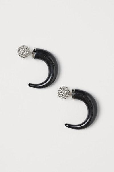 Horn-Shaped Earrings