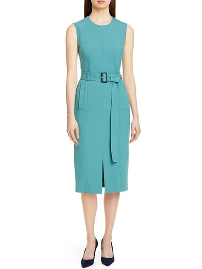 Dadoria Belted Sheath Dress