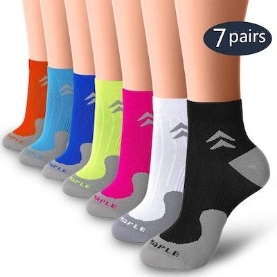 BLUEMAPLE Compression Socks (7 Pack)