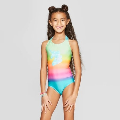 Girls' Flip Sequins Time to Shine One Piece Swimsuit - Cat & Jack™