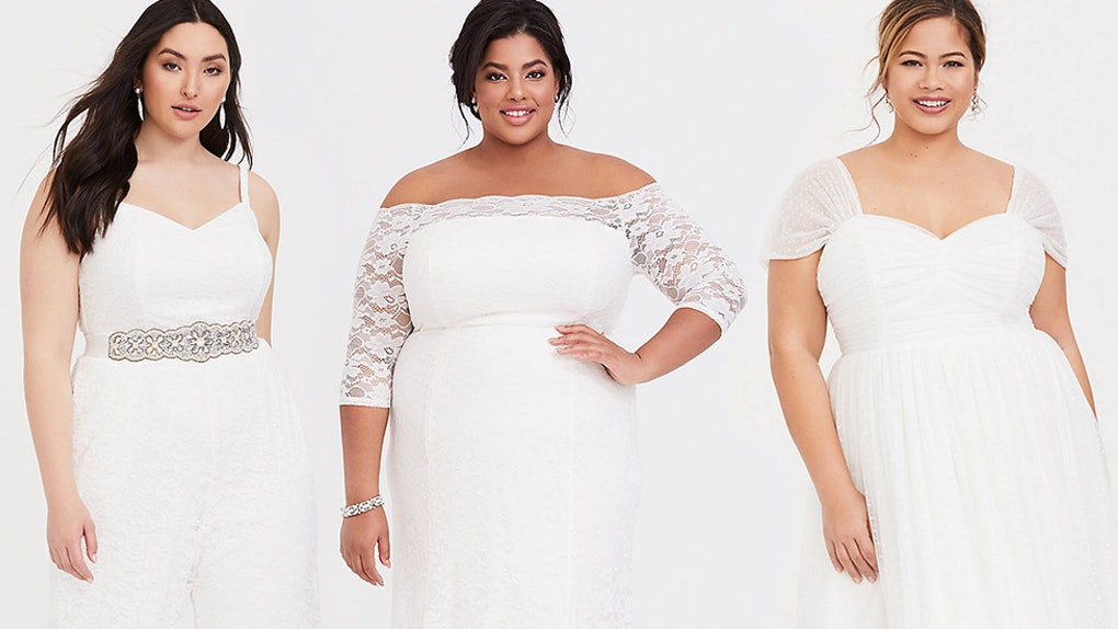 26804e9484c What s In Torrid s Wedding Dress Collection  Dreamy Pieces Up To Size 30
