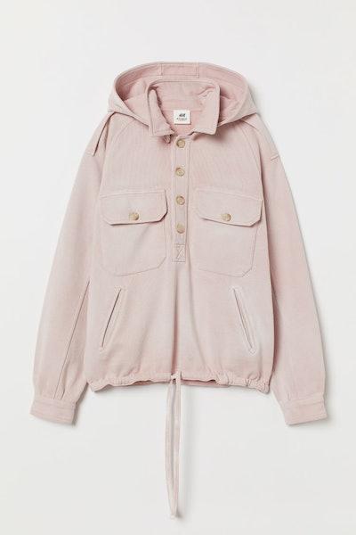 Detachable-Hood Sweatshirt