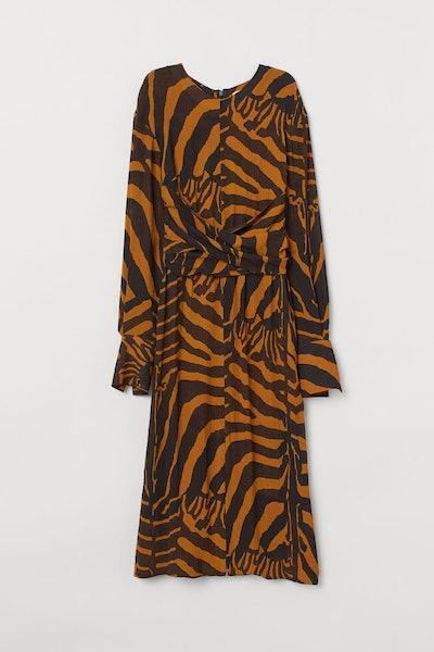 Zebra-Striped Dress