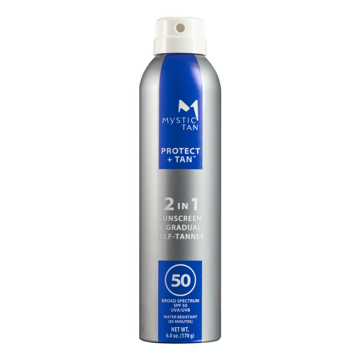 Protect + Tan 2 in 1 Sunscreen SPF 50 infused with Gradual Self-Tanner Spray