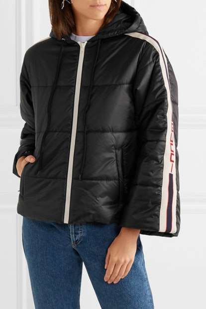 Hooded Quilted Shell Jacket