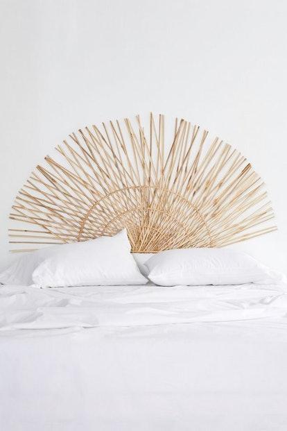 Woven Fan Headboard