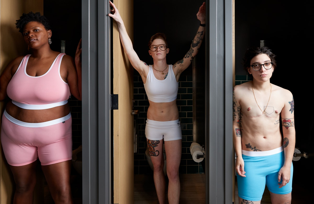 TomboyX's Trans Day Of Visibility Launch Features Transgender Pride Flag Prints In ALL The Brand's Styles