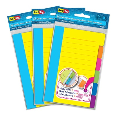 Redi-Tag Divider Sticky Notes (3 Pack)