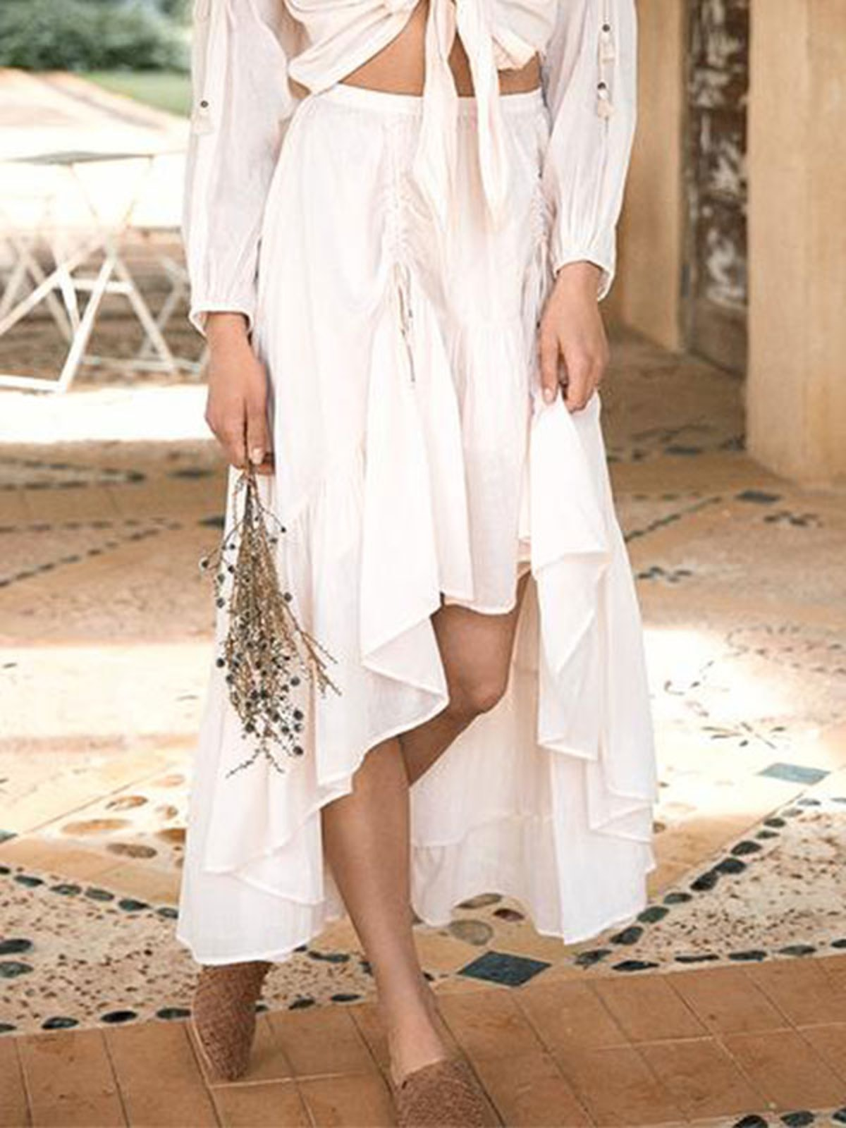 Seashell Organic Ruched Skirt