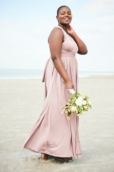Pink Studio Knit Convertable Maxi Dress