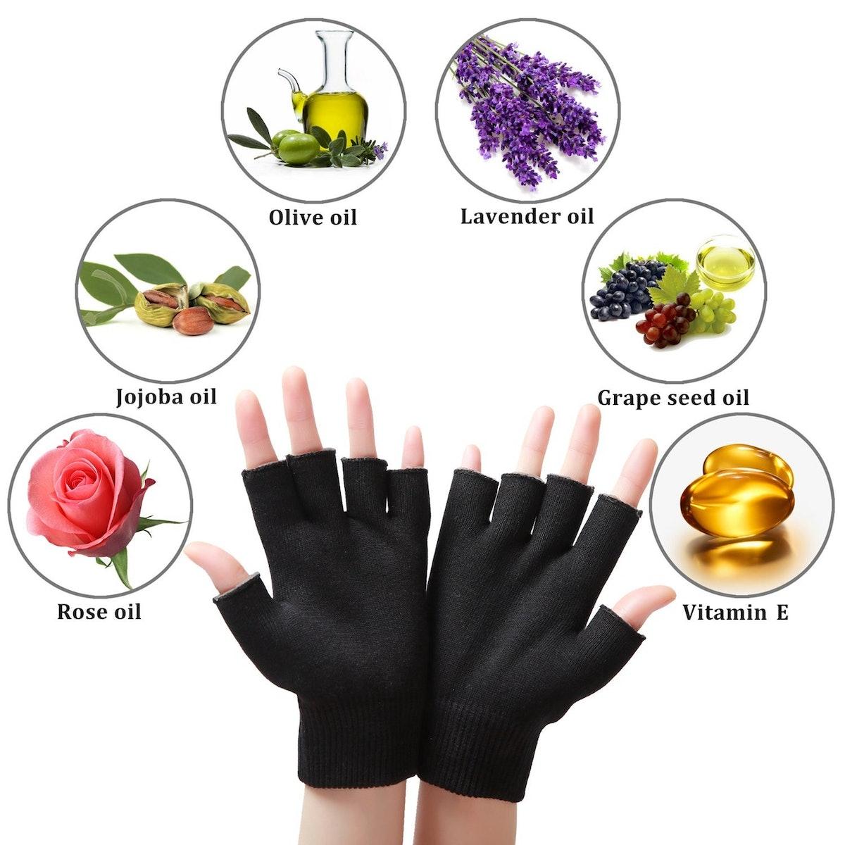 LANGFON Moisturizing Fingerless Gloves