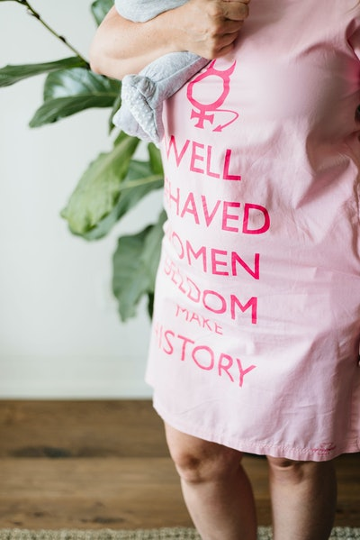 """""""Well Behaved Women"""" Alternative Maternity Gown"""