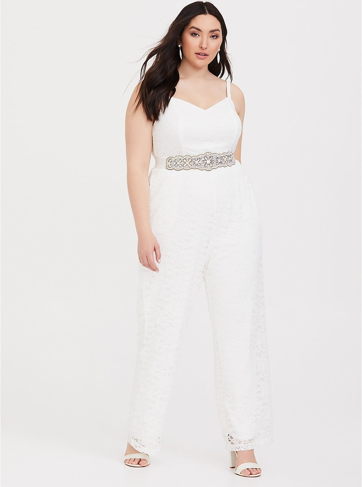 Special Occassion White Lace Jumpsuit