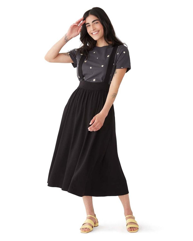 Ban.do Black Pinafore Skirt