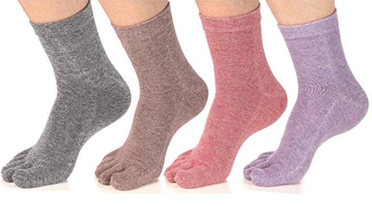 Meaiguo Five-Finger Socks (4 Pack)